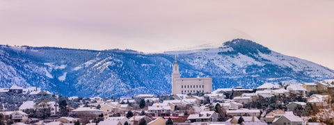Cedar City Temple - On top of the city by Scott Jarvie