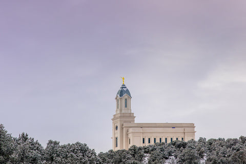 Cedar City Temple - Above the Snow by Scott Jarvie