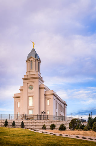 Cedar City Temple - From the Front by Scott Jarvie