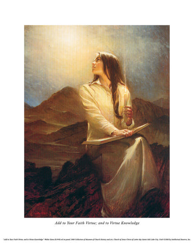 Add to Your Faith Virtue 14x20 open edition print by Walter Rane