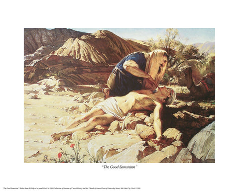 The Good Samaritan 11.25x16 print by Walter Rane