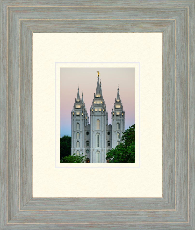 Salt Lake Temple - Morning 11x13 matted and framed paper print