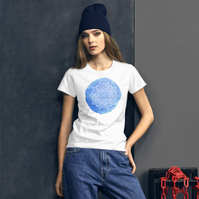 Load image into Gallery viewer, Blue Chakra Mandala Women's short sleeve t-shirt