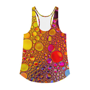 RED AND YELLOW Women's Racerback Tank