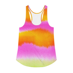 PINK AND ORANGE Women's Racerback Tank