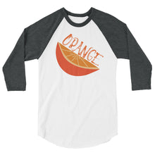 Load image into Gallery viewer, ORANGE COLOR CHAKRA 3/4 sleeve raglan shirt