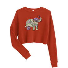 Load image into Gallery viewer, Elephant Mandala Crop Sweatshirt