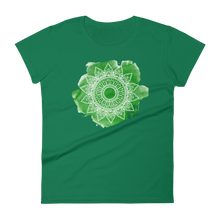 Load image into Gallery viewer, Green Chakra Mandala Women's short sleeve t-shirt