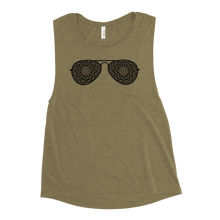 Load image into Gallery viewer, Sunglasses Mandala Ladies' Muscle Tank