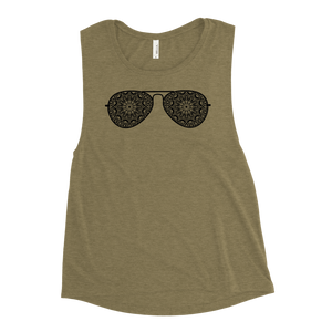 Sunglasses Mandala Ladies' Muscle Tank