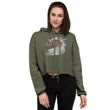 Load image into Gallery viewer, Horse Mandala Crop Hoodie