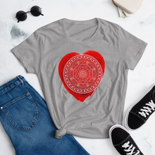 Load image into Gallery viewer, Red Chakra Mandala Women's short sleeve t-shirt