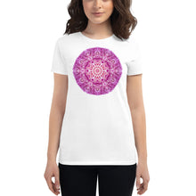 Load image into Gallery viewer, Purple Chakra Mandala Women's short sleeve t-shirt
