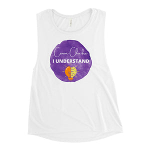 The Purple Color Chakra Ladies' Muscle Tank