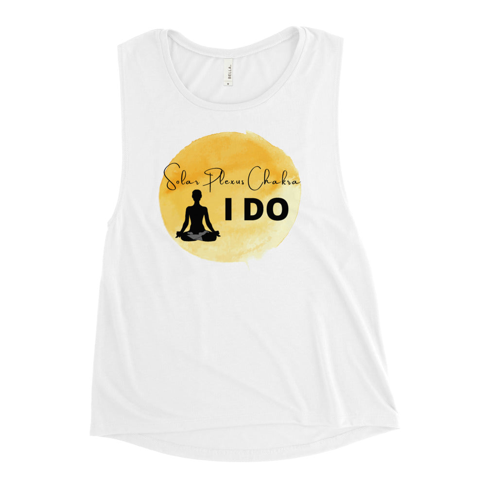 The Yellow Color Chakra Ladies' Muscle Tank