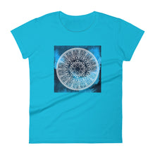 Load image into Gallery viewer, Navy Blue Chakra Mandala Women's short sleeve t-shirt