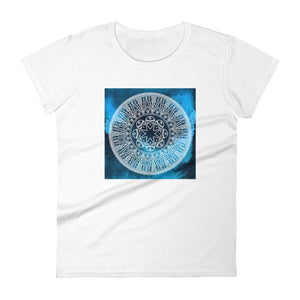 Navy Blue Chakra Mandala Women's short sleeve t-shirt