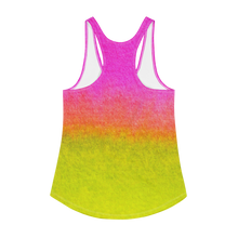Load image into Gallery viewer, PINK AND YELLOW Women's Racerback Tank