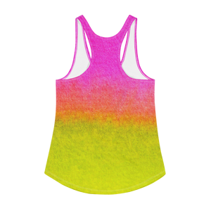 PINK AND YELLOW Women's Racerback Tank
