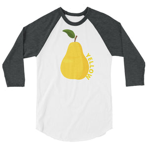 YELLOW COLOR CHAKRA 3/4 sleeve raglan shirt