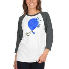 Load image into Gallery viewer, BLUE COLOR CHAKRA 3/4 sleeve raglan shirt