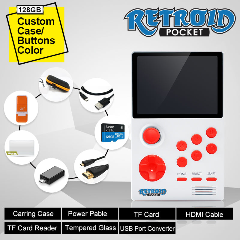 Retroid Pocket - Handheld Retro Gaming Open Android System Custom Case+Button (no roms included)