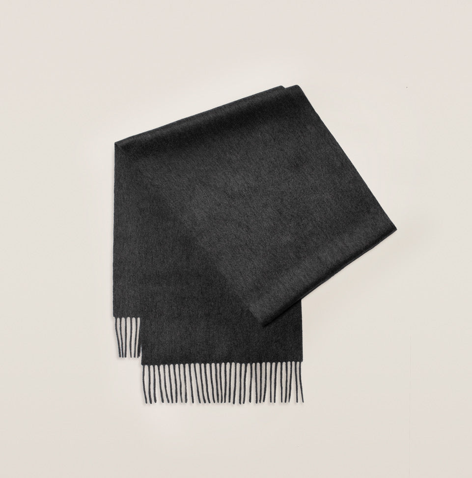 Cashmere Scarf - Dark Grey