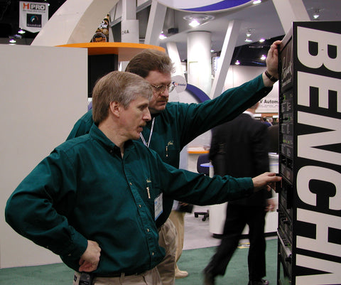 John Siau with Rory Rall at NAB 2001
