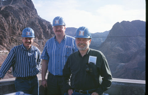 John Siau, Rory Rall and Allen H. Burdick at Hoover Dam in 2000