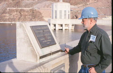 Allen H. Burdick at Hoover Dam in 2000