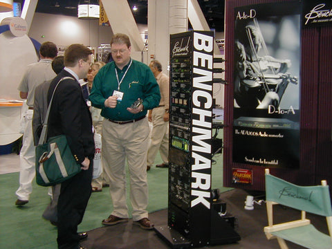 Rory Rall with Customer at NAB 2001