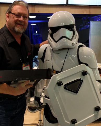 Rory Rall and a Stormtrooper at NAMM 2016