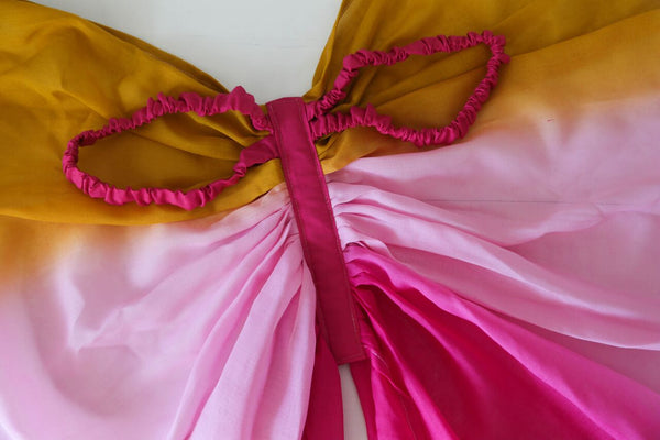 Whimsical Wings Mustard / Pink