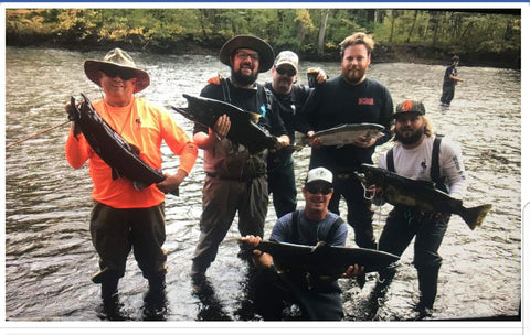 Nate Coy and his buddies had a great day yesterday in the Pineville area of the Salmon River.