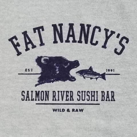 Fat Nancy's Bear and Fish T-Shirt