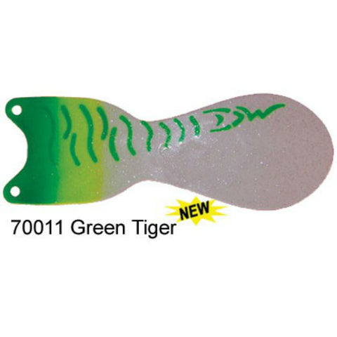 "Dreamweaver Spin Doctor 8"" Flasher Green Tiger 70011"