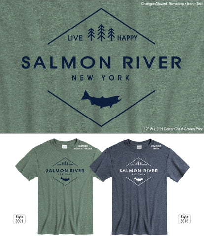 Salmon River Live Happy T-Shirt