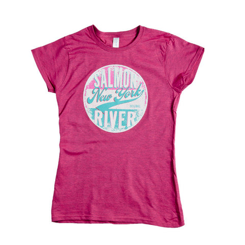 Salmon River New York Oval Ladies T-Shirt