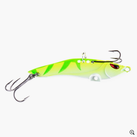 Freedom Tackle Blade Bait Neon Perch Glow