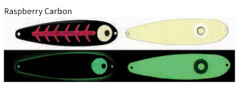 Moonshine Lures Trolling Spoon Raspberry Carbon