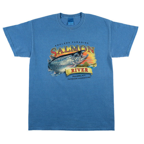 Angler 39 s paradise salmon river t shirt fat nancy 39 s for Fat nancys fishing report