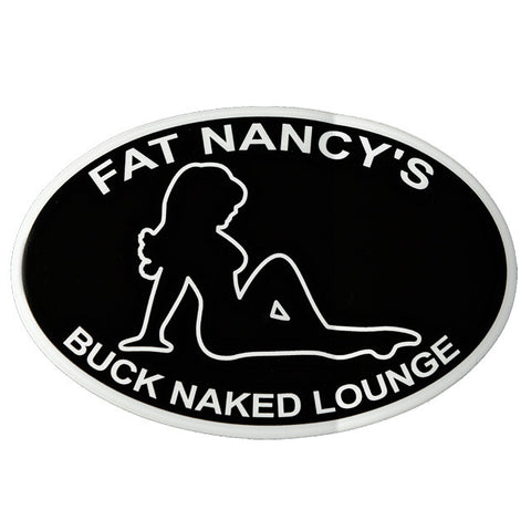 Buck Naked Lounge White Outline