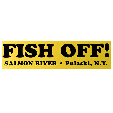 Fish Off Yellow Decal