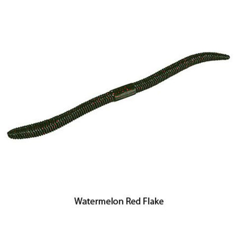 Jackall Flick Shake Worms Watermelon Red Flake