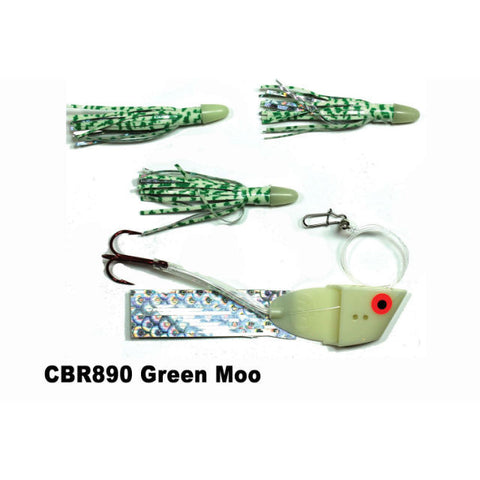Dreamweaver Meat Head Cut Bait Rig Green Moo CBR890