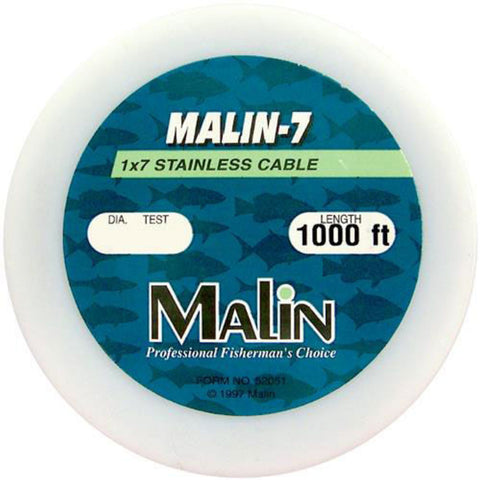 MALIN 7-STRAND STAINLESS STEEL WIRE 1000FT BRITE