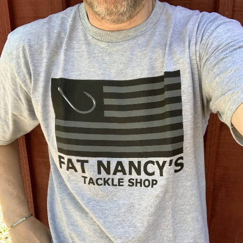 Fat Nancy's Tackle Shop Flag With Hook
