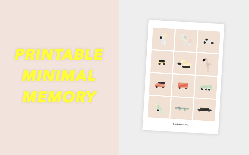 Printable Memory Game | Design Studio Maison Deux