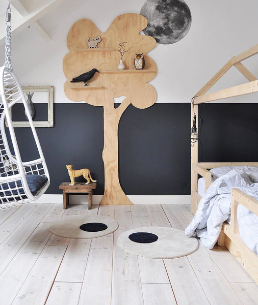 Kids Room Navy Natural Tones | Woolen Kids Rug