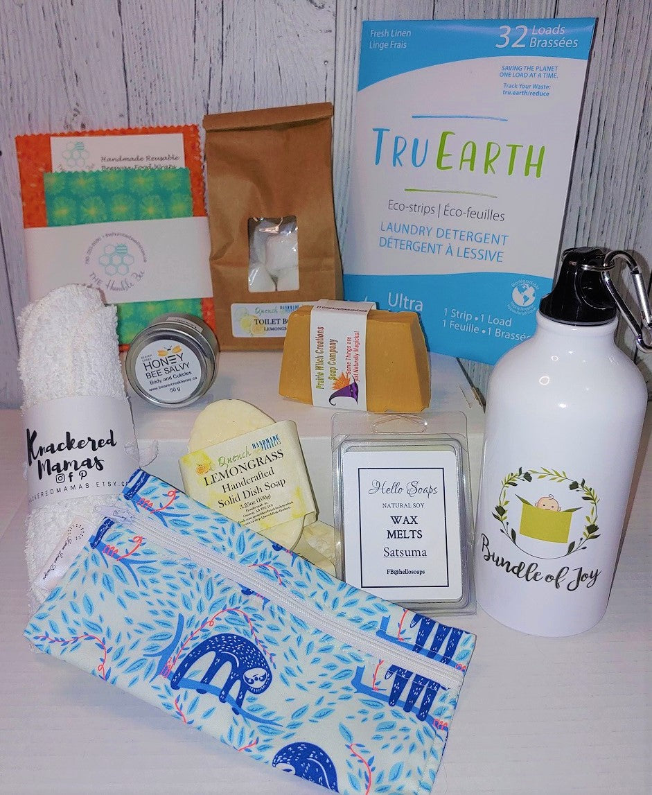 Home essentials Bundle of Joy Box home care box, Pregnancy care boxes, Canadian home care, tru earth laundry